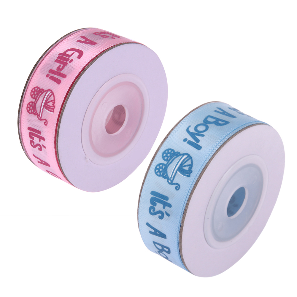 10Yards/roll BOY/GIRL Baby Shower Ribbon Grosgrain Ribbon Gift Belt Beautiful Decoration Best Gift DIY Handmade Decor Craft Tool
