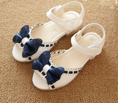 Girl Open Toe Sandals 2018 New Children's Sandals Summer Kids Sandals Cute Butter Tie Design Princess Shoes Girl Shoes комбинезоны и полукомбинезоны idea kids ползунки высокие cute girl