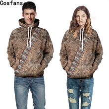 Star Wars I Am Chewie Chewbacca Furry Costume Hoodie Jacket Cosplay hooded sweater cover 3D printing