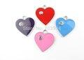 AE126 100 Шт. Смешанные Сплава Эмали Сердце Подвески Подвески DIY Ювелирных Изделий 26x23 мм из бисера