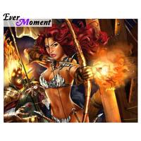 Diamond Painting Full Square Fantasy Warrior Girl Archer Diamond P Diamant Painting Foto Daisy Diamond Embroidery