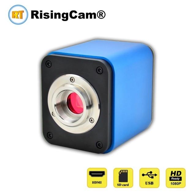 Professional HD 1080p 60fps SONY imx236 sensor trinocular C mount digital video HDMI USB microscope camera