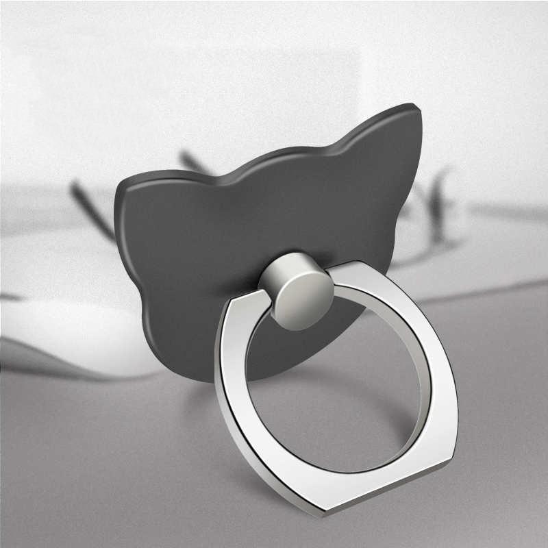 Кольцо-держатель мобильного телефона, подставка, держатель для мобильного телефона для iPhone, huawei, Xiaomi, кольцо-держатель для телефона, автомобильный мобильный телефон, поддержка смартфона - Цвет: Black cat