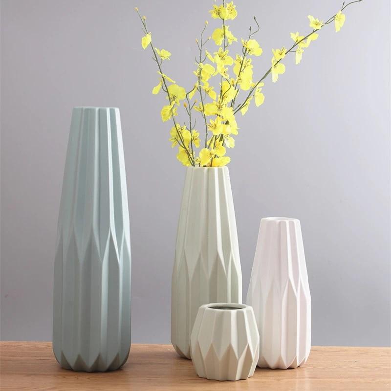Mifive Vasi di Origami di Moda Vaso da Tavolo nel Ceramica Grande Vaso Decorazione Domestica Vaso Moderno Stile Europeo Vaso di Fiori Decorazione Domestica Rosa