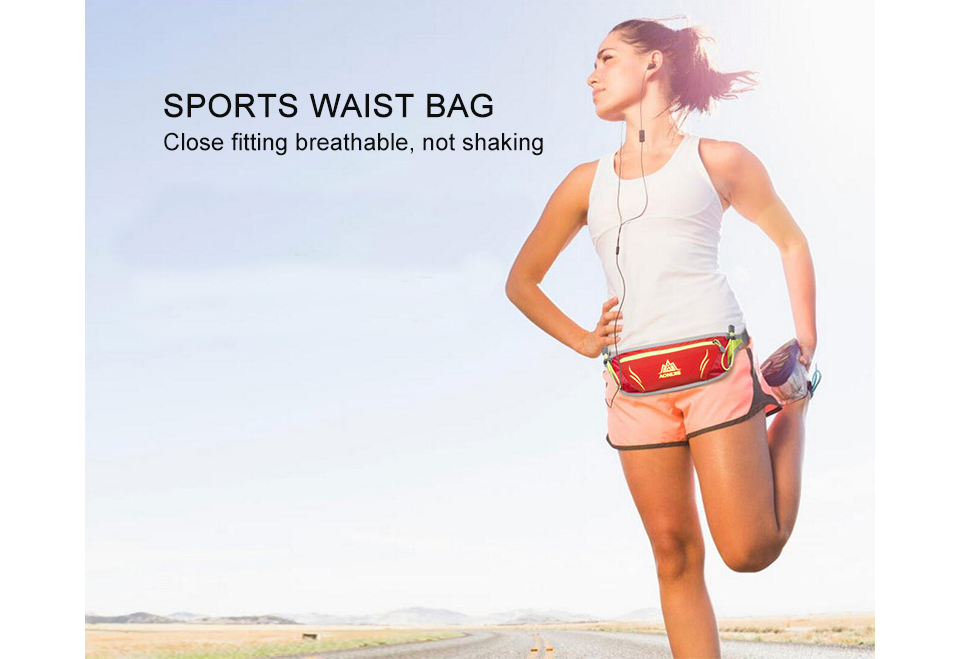 Waist Purse Dolphin Red Unisex Outdoor Sports Pouch Fitness Runners Waist Bags