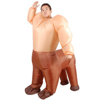 Horse Inflatable Costumes for Adult Ride on Animal Cosplay Suits Fancy Dress Up Halloween Christmas Carnival Party Airblown Toys