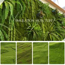 1Mx1M Artificial Moss Turf Mini Fairy Garden Simulation Plants Decorative Lawn Wedding Festival Outdoor Window Decoration