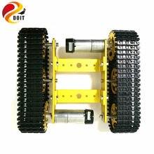 Tanque de metal modelo robô rastreado chassi do carro diy trilha rastreador ensino/plataforma caterpillar compatível com arduino uno r3 t100