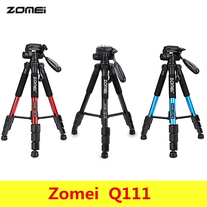 Zomei Q111 Professional Portable Aluminium Travel Tripod with bag Camera Accessories Stand for Digital with Pan Head for Dslr aluminium alloy professional camera tripod flexible dslr video monopod for photography with head suitable for 65mm bowl size