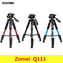 Zomei Q111 Professional Portable Aluminium Travel font b Tripod b font with bag Camera Accessories Stand
