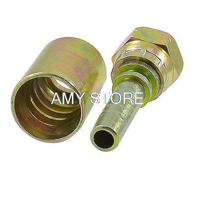 1//2 Inch Brass Barbed Double End Right Angle Pipe Fitting Threaded Connector