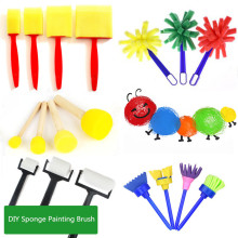 hot deal buy children art sets sponge brush stamp diy children painting graffiti sponge brush stamp tool sets