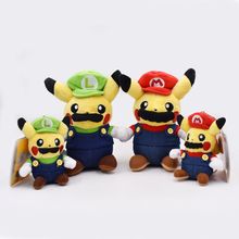 4 Styles Anime Super Mario Bros Mario Luigi Cosplay Pikachu Peluche Doll Plush Soft Stuffed Toy Christmas Gift For Children 20cm kpop bts bangtan boys jung plush toy soft not include doll cosplay mario clothes fan goods be girlfriend gift accessories