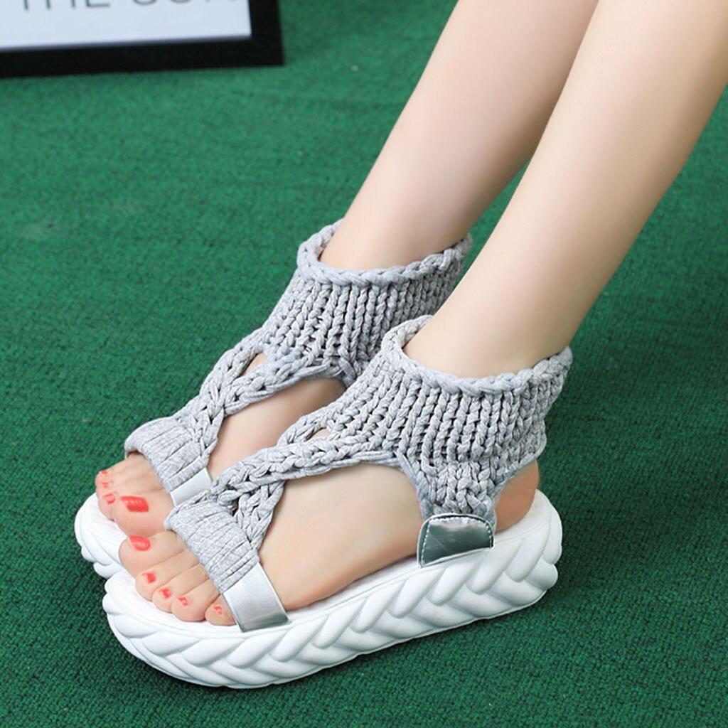 Shoes Women Sandals Fashion Platform Big-Size Comfort Summer Ladies Casual Zapatos-De-Mujer
