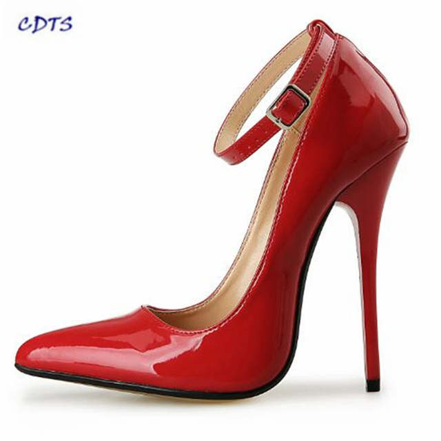 placeholder Summer Crossdresser Pointed Toe 14CM Ultra High thin heels Sexy  Gold Bottoms shoes woman party  2e6caf2cb40e