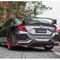 Type R GT Style ABS Plastic Unpainted Rear Trunk Spoiler Use For Honda Civic Tail Wing Decoration 2016 2017