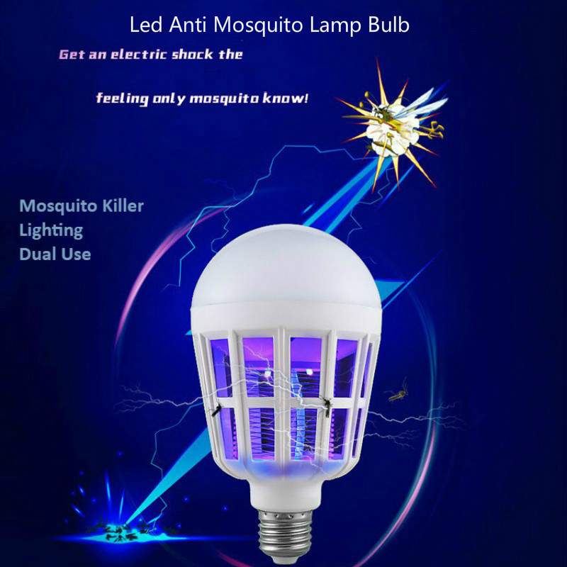 Mosquito Killer Lamp Led Bulb E27 Dual LED Light Bulb Energy-Saving Lamp High-power LED Mosquito Repellent Flying insect Killer