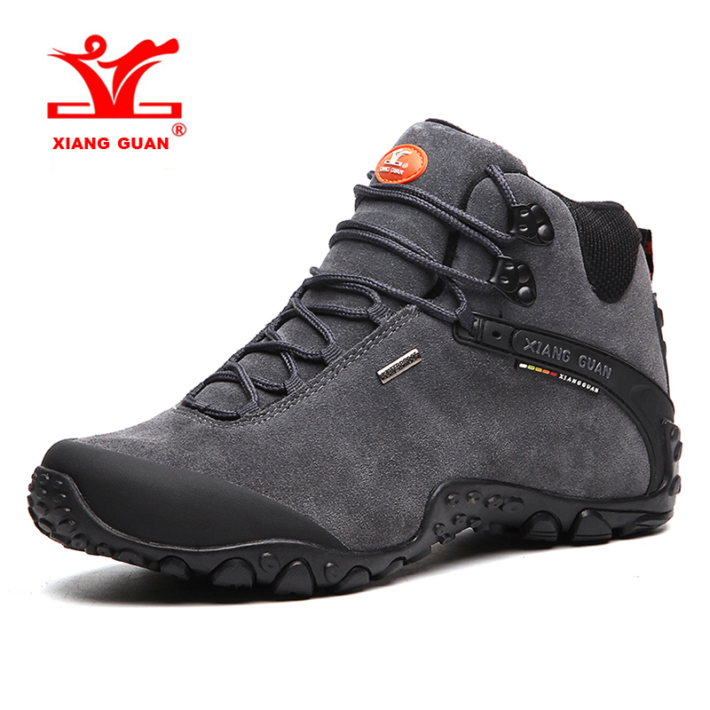 XIANG GUAN Large Size Mens Breathable Hiking Shoes Waterproof Outdoor Sports Shoes Climbing For Men Free Shipping 82287