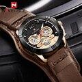 NAVIFORCE Mannen Analoge Quartz Horloges Mode Luxe Zakelijke Horloge Mannen Lederen Waterdichte Horloge Mannelijke Klok Relogio Masculino