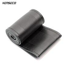Venseco дышащая натуральная кожа руль крышка Высокое качество мягкий рулевого управления крышка DIY Руль S Руль концентраторы
