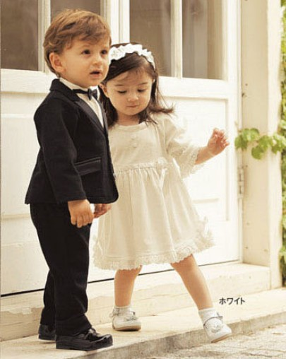 Good Quality Baby Boy Gents Dress Suit Pants Jacket Shirt Tie Wedding 4 Pieces A SetBoys SetChildren Clothes In Clothing Sets From Mother