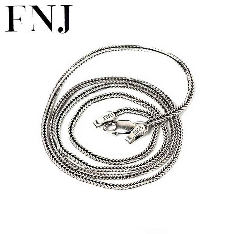 2 mm Cadena de plata damas de cadena de serpiente plata 925 collar 42 cm