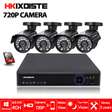 4CH 1080N HDMI DVR 720P HD Indoor Outdoor Security Camera System 4 Channel 1080P CCTV DVR Kit AHD Camera Set 1TB Hard Drive