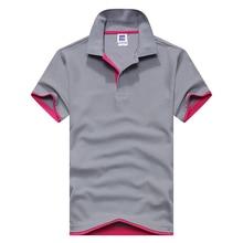 9968271cac 2018 roupas de Marca Nova Camisa Polo Dos Homens Homens de Negócios    sólidos Casual masculino camisa pólo de Manga Curta camisa.