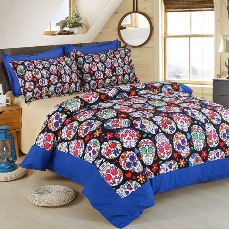 3D Skull Halloween Bedding Set Skull Home Textile