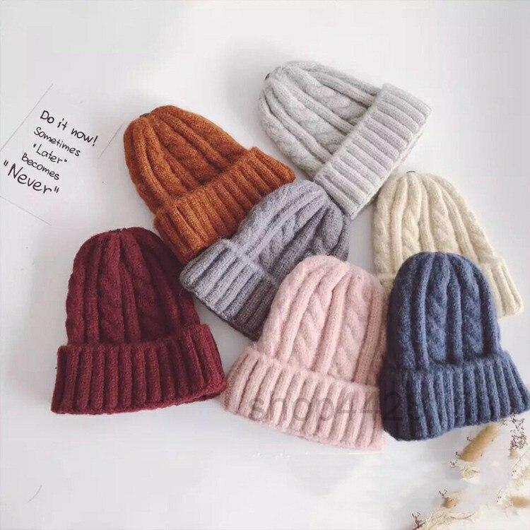 2018 neue Kommen Mode Kinder Hut Für Mädchen Winter Baby Hut Für Jungen Hüte Warme Gestrickte Baby Kappe Für Mädchen kappe