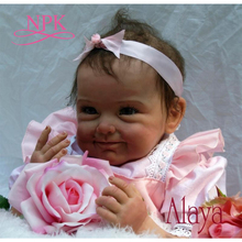 NPK New Arrival 55CM high quality magnetic pacifier Realistic Handmade Baby Doll Alive Girls Lovely Silicone Reborn bebes Doll