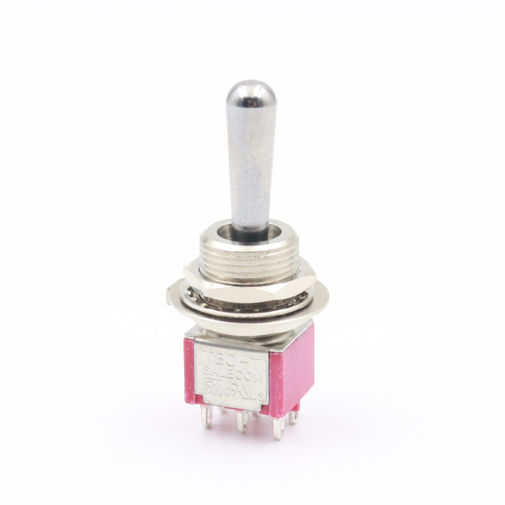 2pcs Sh On Off Momentary 3position 6pin Dpdt Large Handle Relay Schematic Symbol Telecom Relays T8012a Z1 Mini Toggle Switch In Switches From Lights Lighting