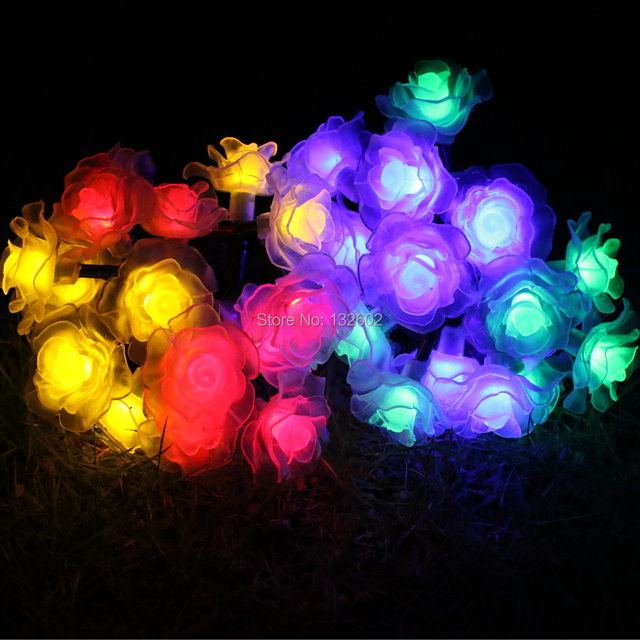 battery 6m 30led rose flower shaped led string lights outdoor christmas party garden decoration fairy