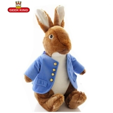 GEEK KING  Peter Rabbit plush toys children figure Peter Rabbit doll cartoon animals kids stuffed brinquedos free shipping love from peter rabbit