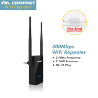 COMFAST Wireless Repeater 300 Mt drahtlose Wifi Repeater 2,4g ap router Signalverstärker WIFI Extender 2 * 5dBi Antenne WIFI Router