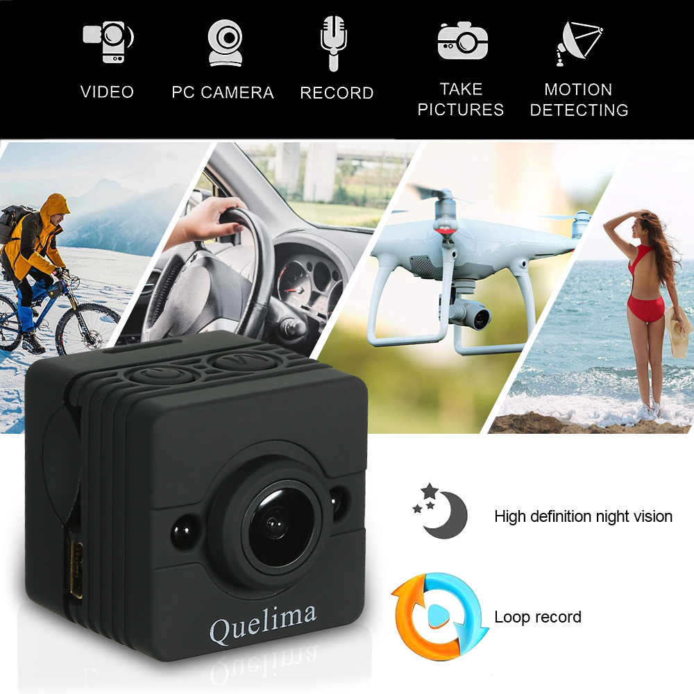 Quelima SQ12 Mini Camera Nachtzicht Dash Cam 155 Graden FHD 1080 P DVR