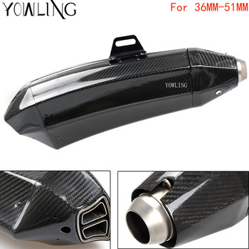 Real Carbon Fiber Motorcycle Exhaust Universal Muffler 51mm Inlet Exhaust For BMW HP2 Enduro K1600 GT/GTL K1300 S/R/GT R 1200GS