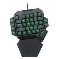 K50 Bedrade Usb Een Hand Toetsenbord Macro Definition Mechanische Gaming Abs Toetsenbord Zeven Kleuren Backlight Voor Computer Pc Game