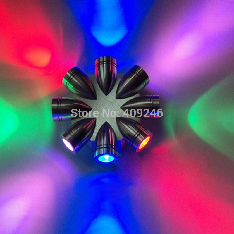 ФОТО LED 8W Colourful Hand Flower Corridor Wall Light Act Bar KTV Decorative Lighting Club Background Lamp