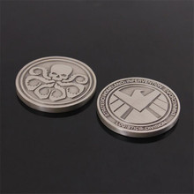 New Movie SHIELD Costumes Badge Coin The Avengers Hydra Commemorative Fancy Funny Gift Metal 4CM