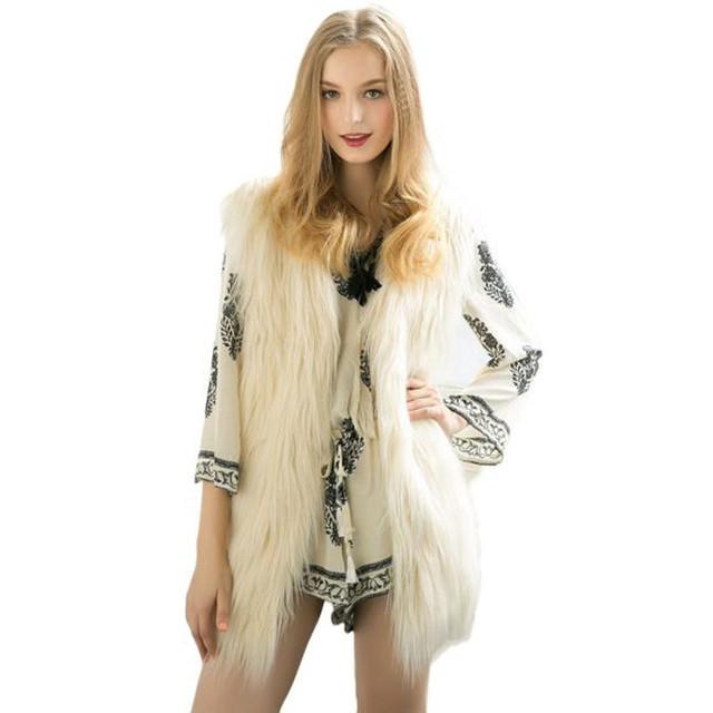 Otoño Invierno Moda Mujer 5 ColoursVest Soild Abrigo Sin Mangas Chaleco Delgado Outwear Suave Felpa Caliente Sep28