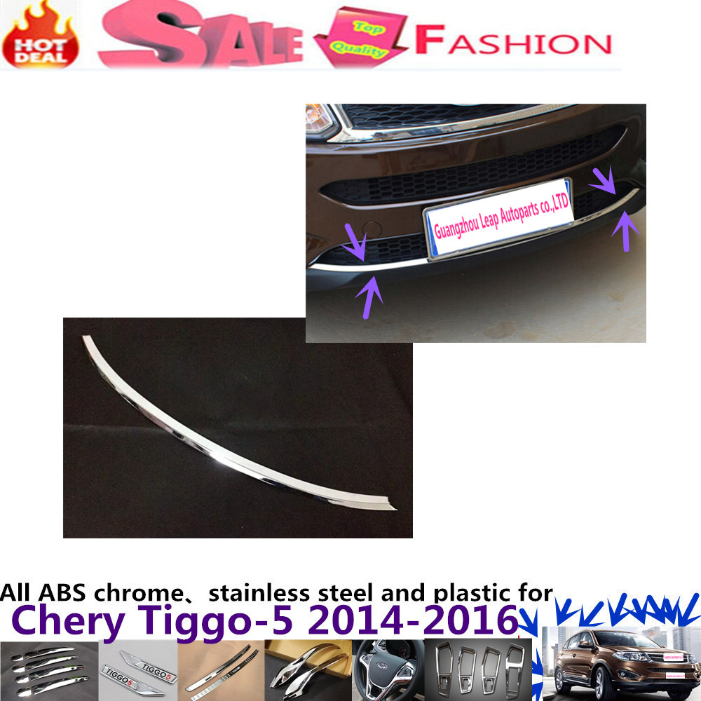 For Chery Tiggo 5 2014-2016 Car body cover Bumper engine ABS Chrome trims Front bottom Grid Grill Grille frame edge hoods 1pcs car styling cover bumper engine abs chrome trim bottom front grid grill grille edge lamp frame panel 1pcs for vw aud1 a4l 2017