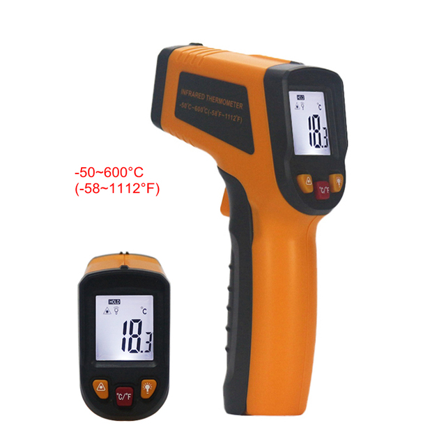 Non-contact IR Infrared Thermometer -50~600C Celsius Portable Digital LCD Gun Temperature Meter with Backlight Replace GM550