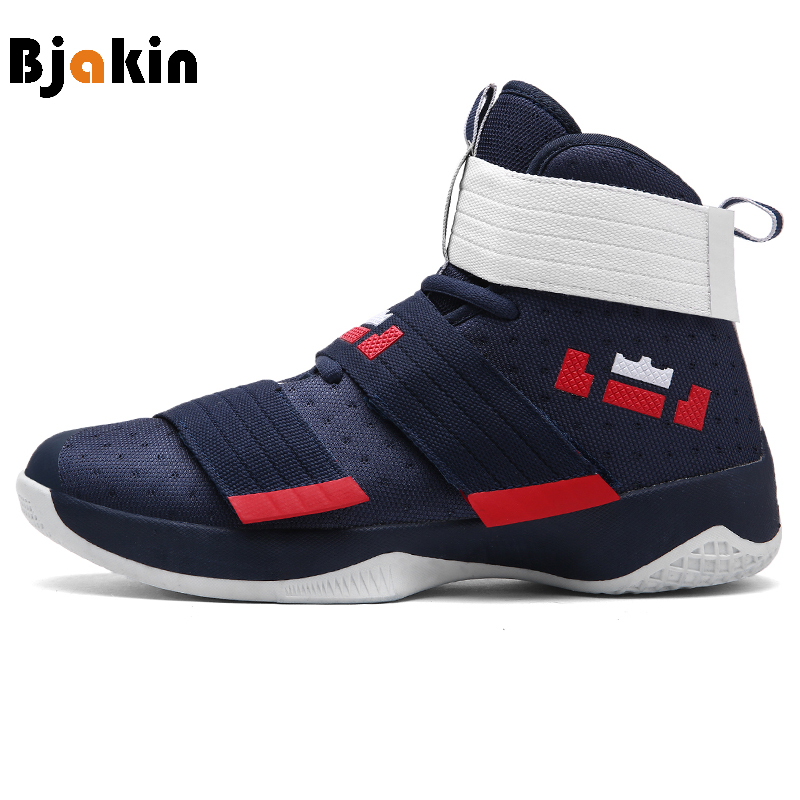 Bjakin Men Basketball Shoes Court Male Basketball Ankle Boots for Female Couple Anti-Slip Court Sports Sneakers Size 36-45