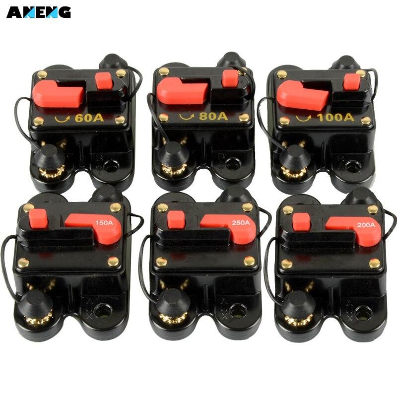 Auto Audio 60A 80A 100A 150A 200A 250A Automatische Wiederherstellung Schalt Liefert Stromschutzschalter Sicherungshalter Versicherungsblock