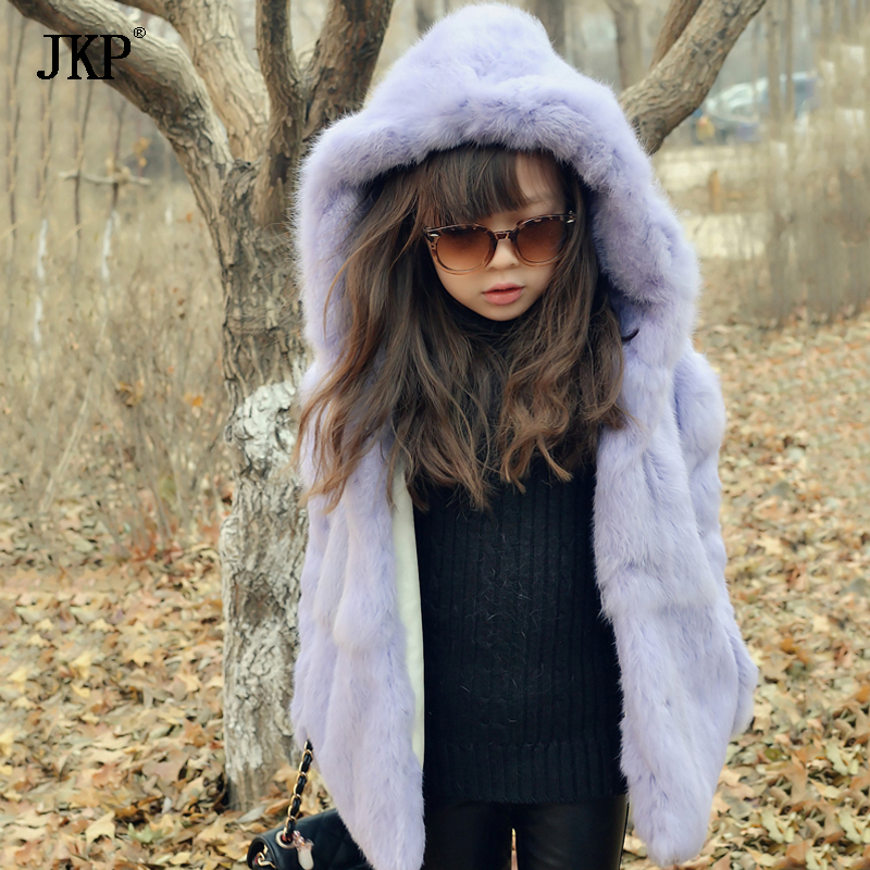 JKP 2018 new luxury Casual girls Party or wedding Coats fashion real rabbit fur Outerwear Cotton Children spring  Jackets CT-27 muqgew new fashion 2018 children party