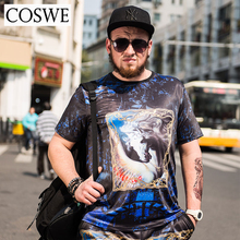 COSWE 3D Funny Printed Loose Men T-Shirt Summer Short Tee Fashion Man Tshirt Casual Homme Shirts For Mens Clothing Plus Size 6XL