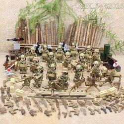 Спецназ военный спецназ армия оружие солдат морской корпус строительные блоки Фигурки игрушки детский подарок Совместимость LegoINGlys