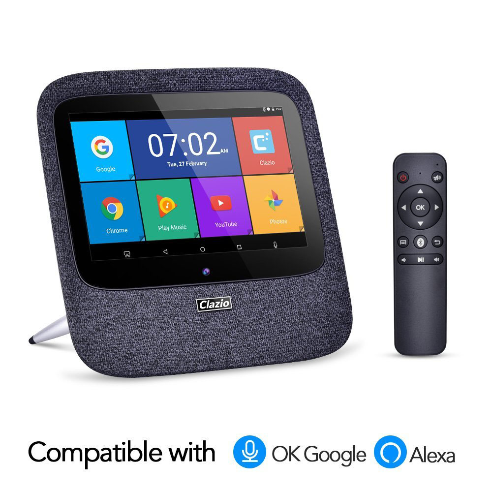 US $239 0 |Android Internet radio google home Alexa bluetooth speaker with  7 inch Touch 2K FHD Display (Octa core, 2GB DDR3, 16GB flash)-in Radio from