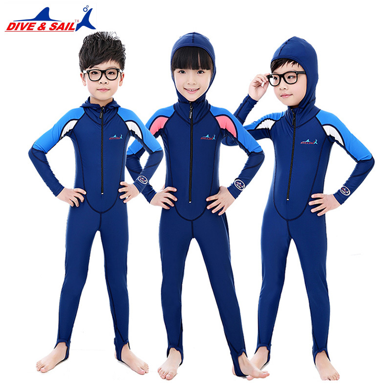 UPF50+Lycra long sleeve diving suit for boy girls children surfing stinger suits,snorkeling uv protection bask in wear dive skin цена и фото